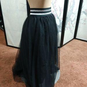 Forever 21 plus tulle layered skirt glitter waist